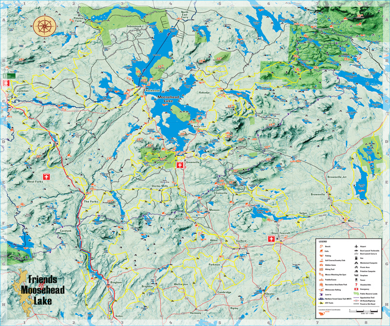 ATV Map Moosehead Lake Area